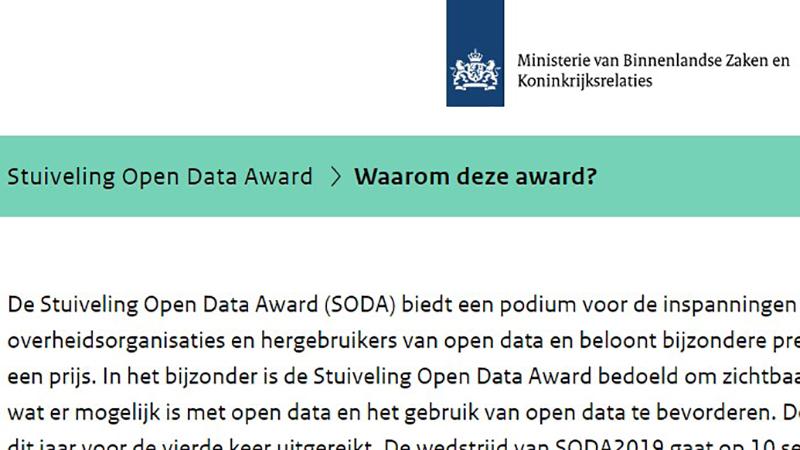 Slim Melden genomineerd voor SODA-Award 2018