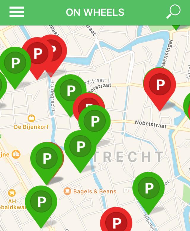 Gemeente Utrecht Invalidenparkeerplaatsen met sensoren