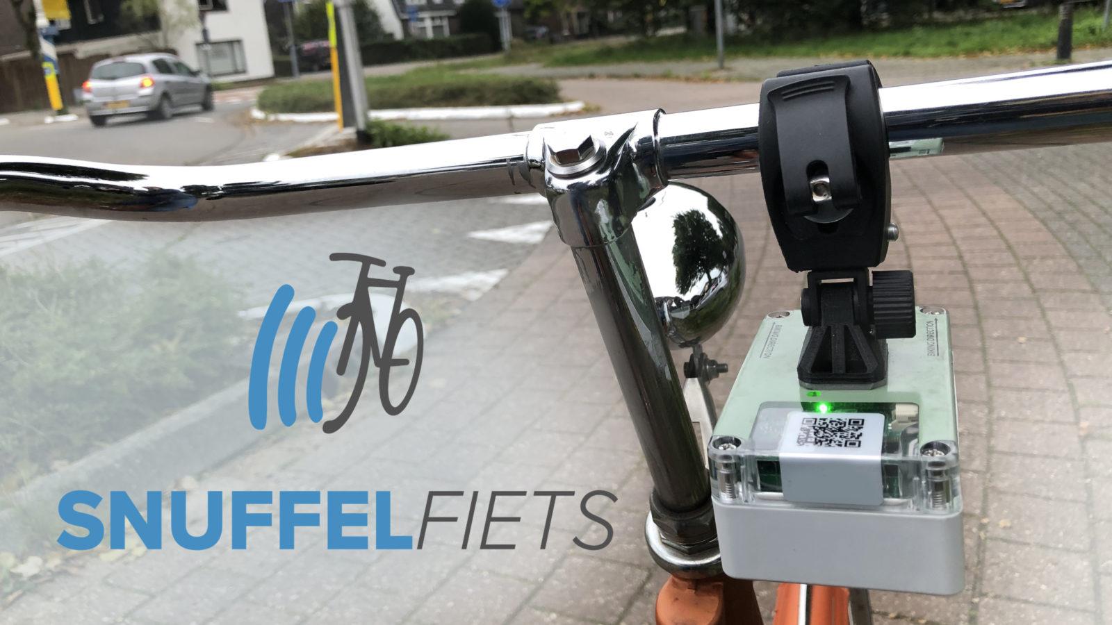 Locatie van de Snuffelsensor direct onder het fietsstuur.
