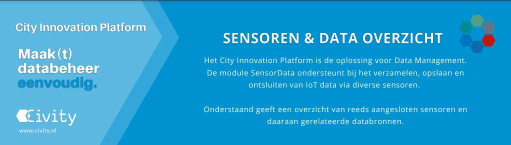 Overzicht sensoren & databronnen